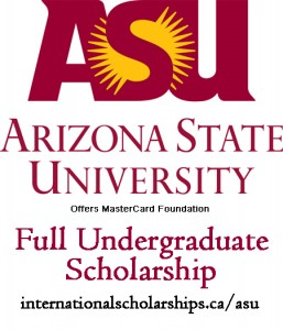ASU Full Undergraduate Scholarship from MasterCard Foundation