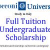 Bocconi Undergrad Scholarships