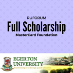 The Mastercard Foundation – RUFORUM Scholarship Award 2017/2018