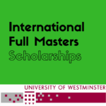 University of Westminster Full Time Masters Scholarships for International Students