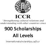 Full Scholarships from Indian Council for Cultural Relationships