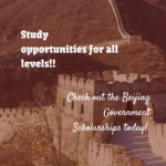 Beijing Government Scholarships for All Levels