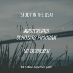 MasterCard Foundation Scholars Program at UC Berkeley
