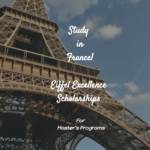 Eiffel Masters Scholarships