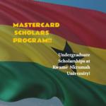 Kwame Nkrumah University MasterCard Scholarships