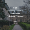 KOP NFP (Netherlands Fellowship Program)