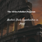 Africa Scholars Program at Universitá Cattolica del Sacro Cuore