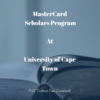 MasterCard Foundation Scholarships at University of Cape Town