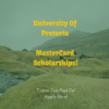 MasterCard Foundation Scholarships at University of Pretoria